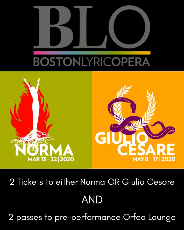 2 Tickets to Boston Lyric Opera Production