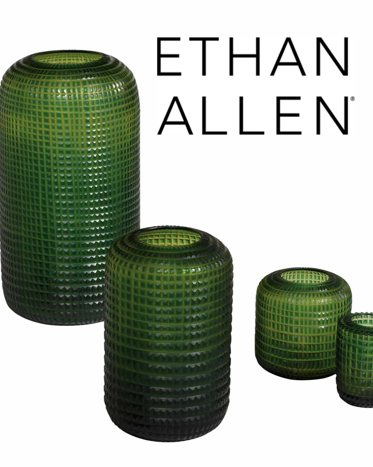3 Lucira Emerald Vases